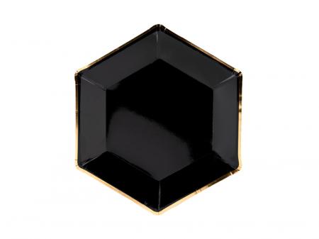Set 6 Farfurii Negre, 23 cm0