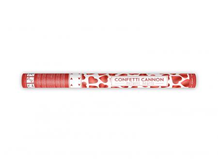 Tun Confetti Inimioare Rosii, 60 cm [0]