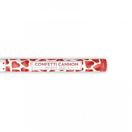 Tun Confetti Inimioare Rosii, 60 cm [2]
