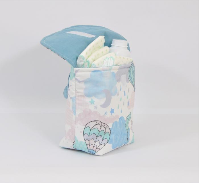 Plic textil  de calatorie pentru  scutece