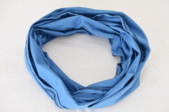 Esarfa alaptare  5 in 1  bumbac culoare albastra 1