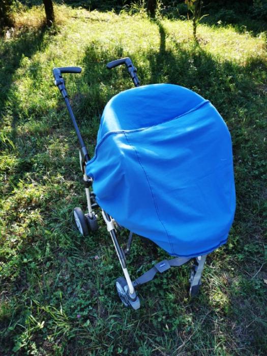 Esarfa alaptare  5 in 1  bumbac culoare albastra 4