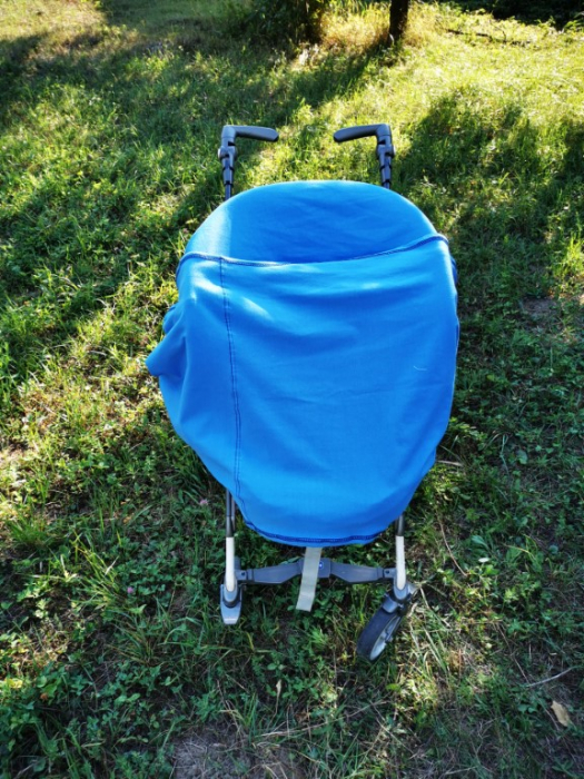 Esarfa alaptare  5 in 1  bumbac culoare albastra 3