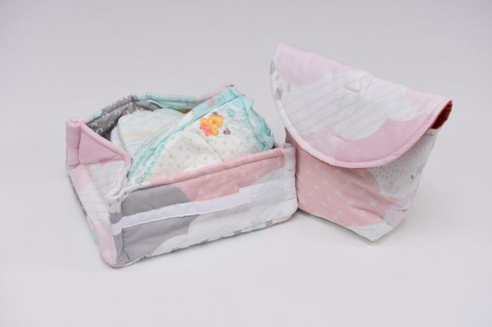 Set organizatoare scutece bebe  model 17 0