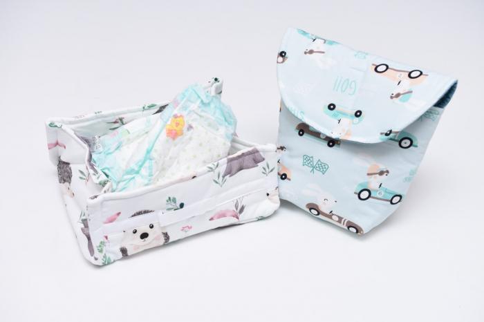 Set organizatoare scutece bebe  model 2 0