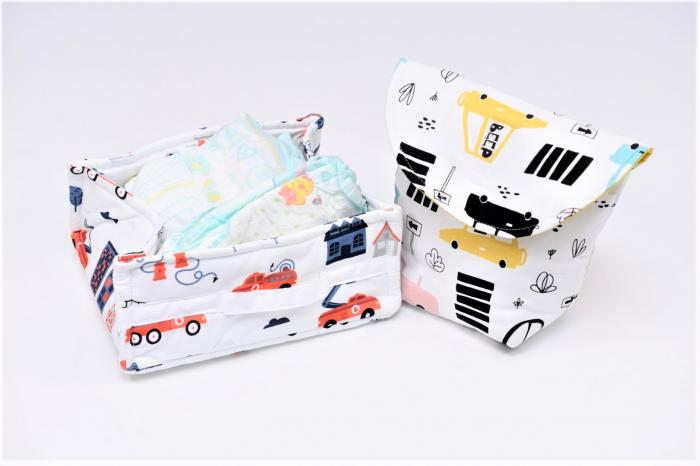 Set organizatoare scutece bebe  model 9 0