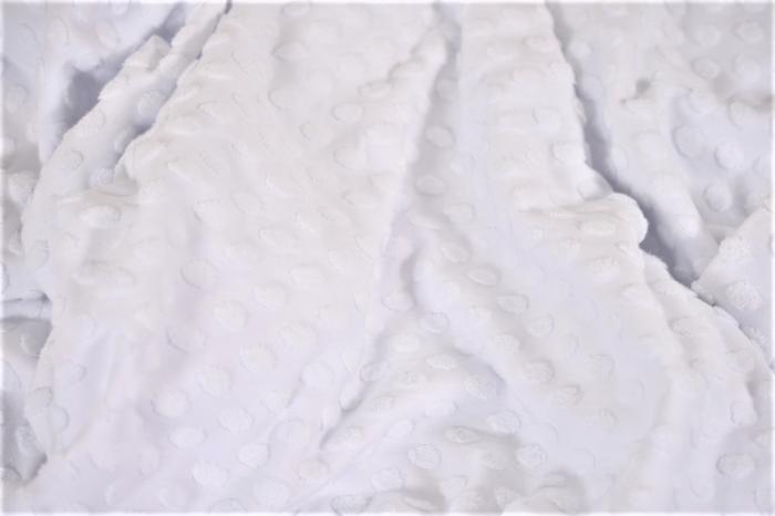 Paturica tricot alb cu bulinute 2