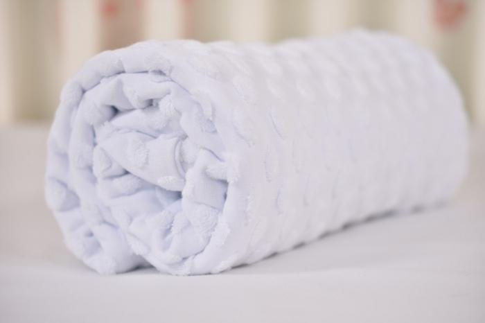 Paturica tricot alb cu bulinute 1