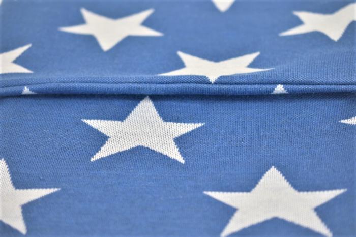 Paturica tricot bleu cu stelute  albe [1]