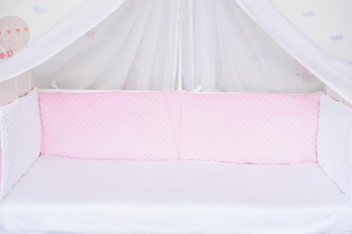 Aparatori clasice minky groase alb/roz [0]