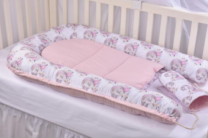 Babynest model unicorni si roz Paturica Fermecata [5]