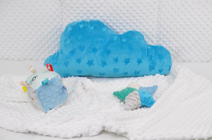 Norisor plus minky albastru cu stelute 0