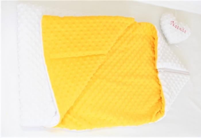 Paturica fermecata- paturica saculet gros plusat alb galben [3]