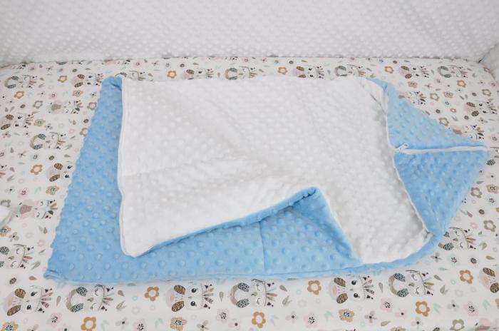 Paturica fermecata- paturica saculet gros plusat alb bleu [1]