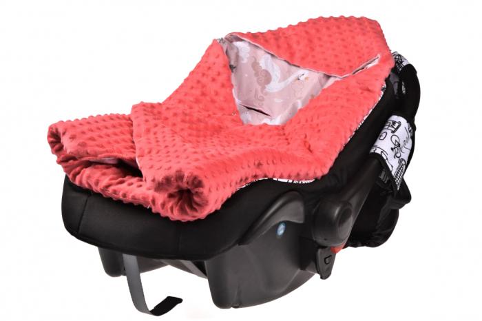 Paturica scaun auto model lebede paturica fermecata 1