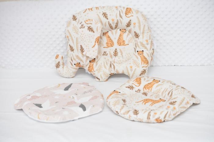 Set 3 pernute bebe model gheparzi si lebede 0