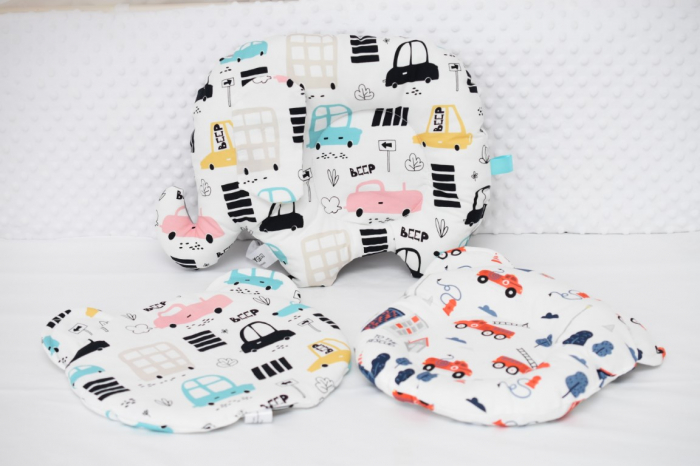 Set 3 pernute bebe  masinute vesele 0