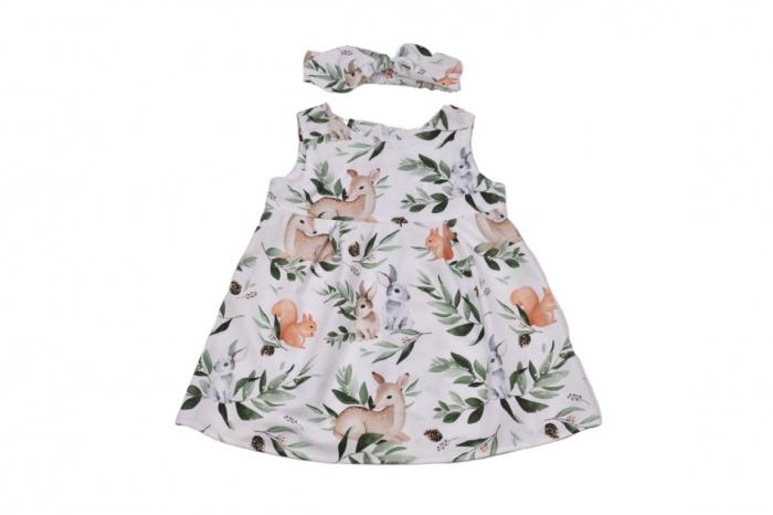 Set rochie si bentita model caprioare si iepurasi [0]
