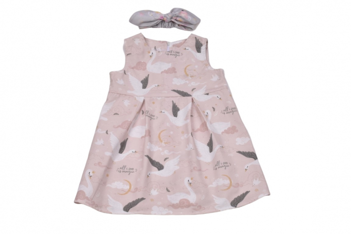 Set rochie si bentita model lebede [0]