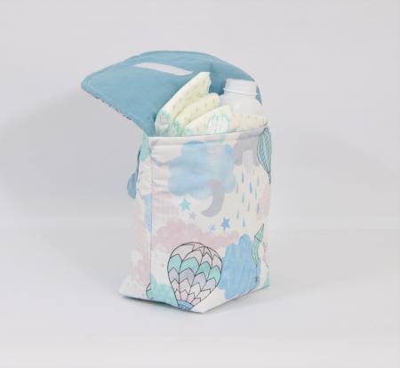 Plic textil  de calatorie pentru  scutece4