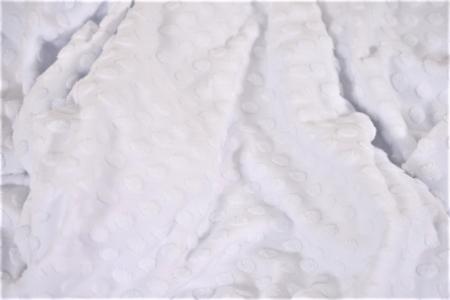 Paturica tricot alb cu bulinute2