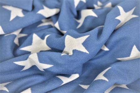 Paturica tricot bleu cu stelute  albe [4]