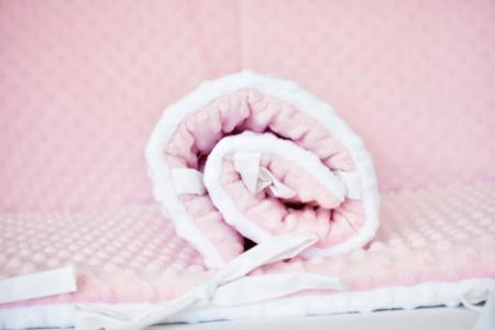 Aparatori clasice minky groase alb/roz [4]