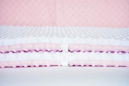 Aparatori clasice minky groase alb/roz [3]