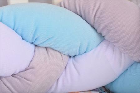 Aparatori impletite Velvet alb,gri, bleu [1]