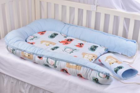 Babynest model masinute si bleu Paturica Fermecata [3]