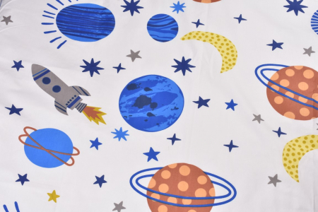 Lenjerie 3 piese patut gradinita model planete [2]