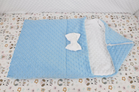 Paturica fermecata- paturica saculet gros plusat alb bleu [0]
