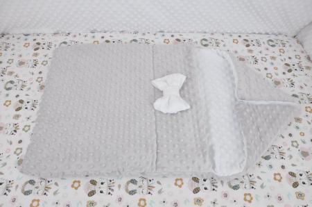 Paturica fermecata- paturica saculet gros plusat alb gri [1]
