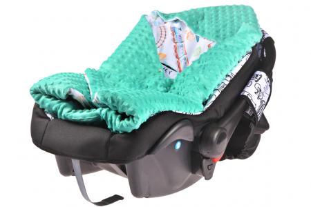 Paturica scaun auto model trenulete1