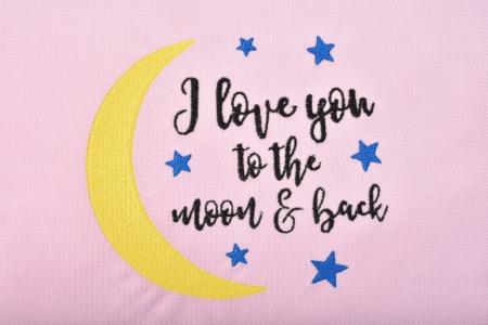 Pernuta decor Moon roz [1]