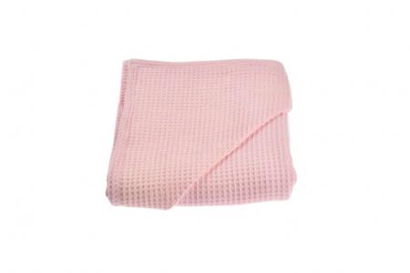 Prosop de baie bumbac 100% waffle roz [0]
