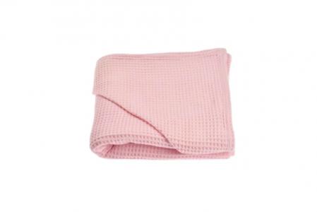 Prosop de baie bumbac 100% waffle roz [1]