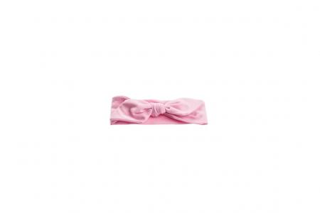 Set 2 bentite bumbac organic alb cu bulinute si roz [1]