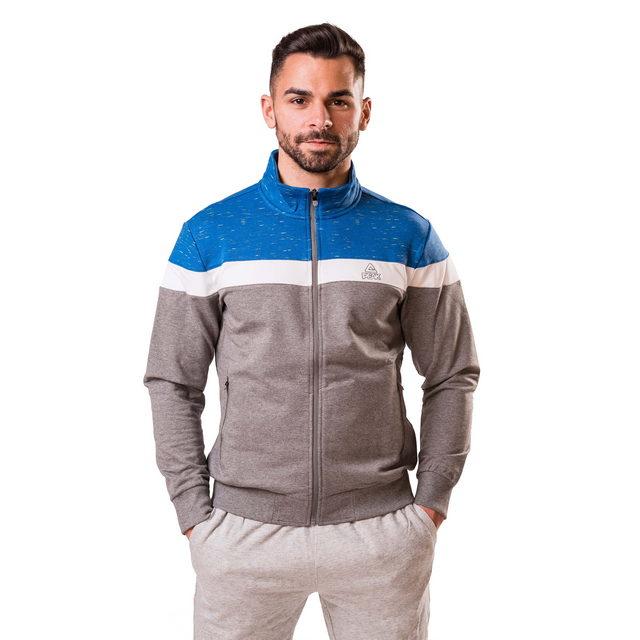 Bluza cu fermoar PEAK Advance gri/albastru [0]