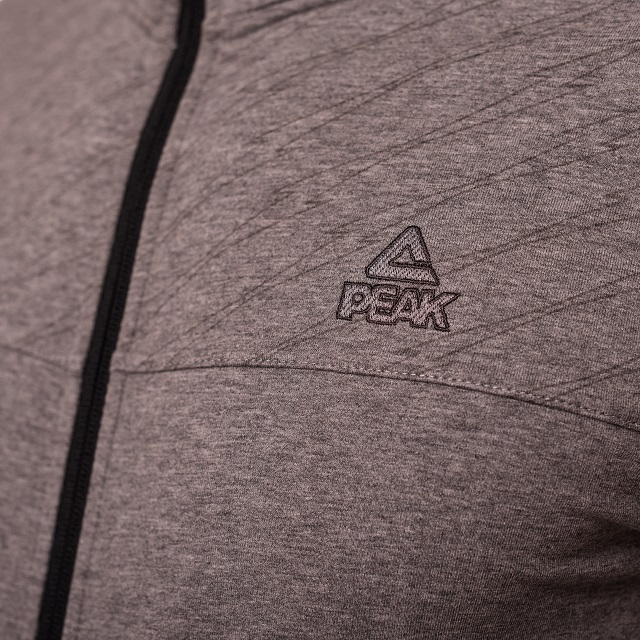 Bluza cu fermoar PEAK Crew gri deschis [3]