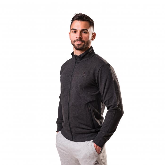 Bluza cu fermoar PEAK Crew gri inchis [1]