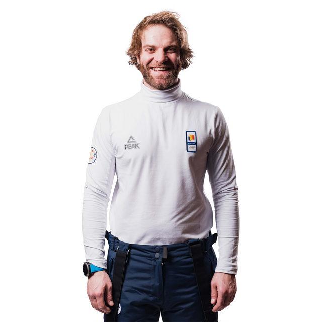 Bluza pe gat PEAK Winter Olympic barbati alb [0]