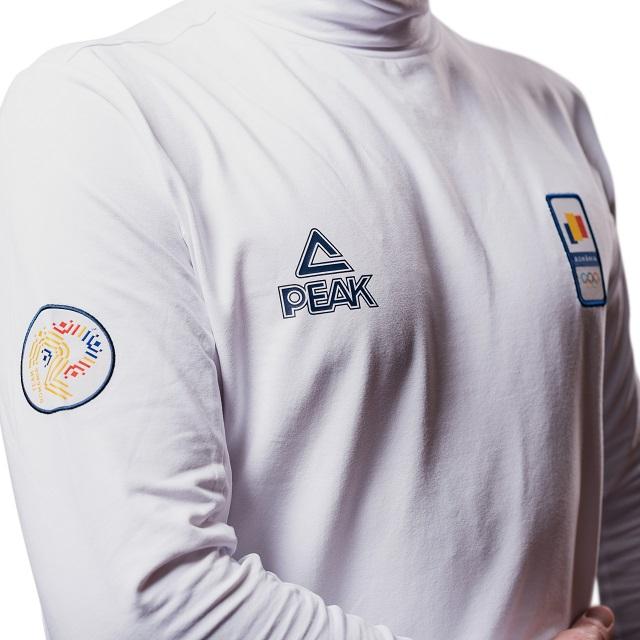 Bluza pe gat PEAK Winter Olympic barbati alb [2]