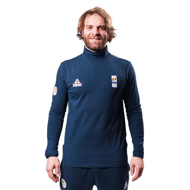 Bluza pe gat PEAK Winter Olympic barbati navy [0]