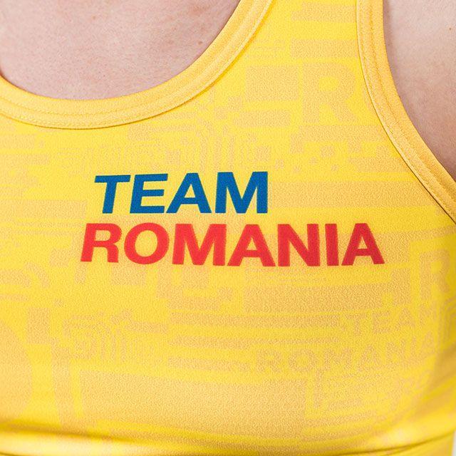 Bustiera Peak TeamRomania20 dama galben [4]
