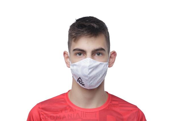 Masca faciala TeamRomania20 alb [1]