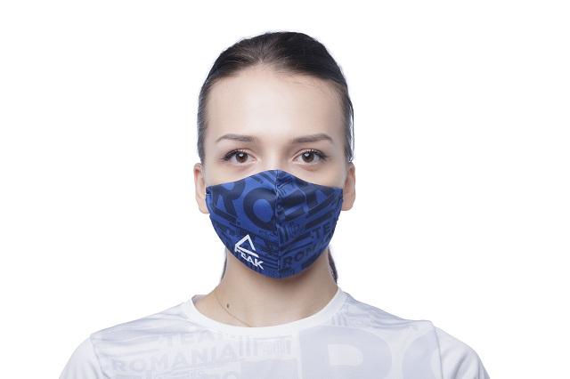 Masca faciala TeamRomania20 albastru [1]