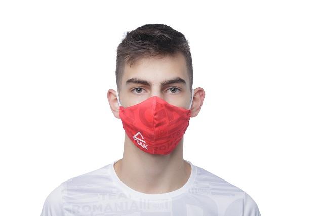 Masca faciala TeamRomania20 rosu [2]
