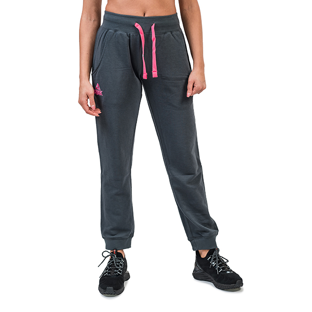 Pantaloni trening PEAK bumbac dama gri/roz [0]