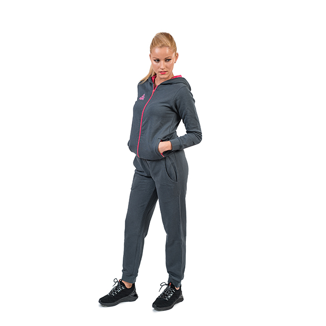Pantaloni trening PEAK bumbac dama gri/roz [1]